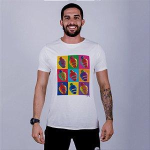 Camiseta Estonada A Fio Caju Pop Off White