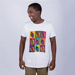 Camiseta Estonada Caju Pop Off White