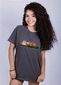 Camiseta Estonada A Fio Castelo di Bivar Chumbo
