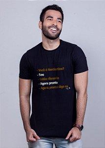 Camiseta Agora Pronto Preta