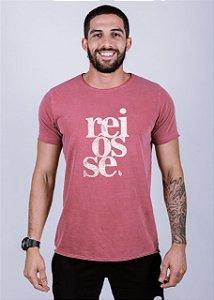 Camiseta Estonada A Fio Reiôsse Grunge Goiaba