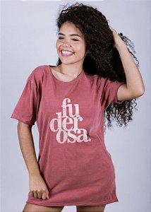 Camiseta Estonada A Fio Fuderosa Grunge Goiaba