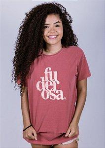 Camiseta Estonada Fuderosa Grunge Goiaba