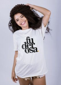 Camiseta Estonada A Fio Fuderosa Grunge Off White