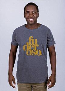 Camiseta Estonada A Fio Fuderoso Grunge Chumbo