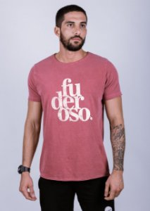 Camiseta Estonada A Fio Fuderoso Grunge Goiaba
