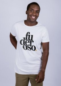 Camiseta Estonada Fuderoso Grunge Off White