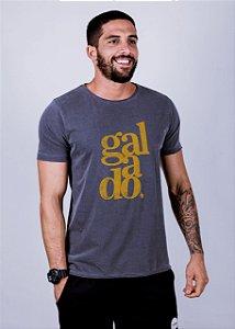 Camiseta Estonada A Fio Galado Grunge Chumbo
