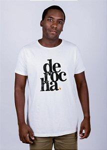 Camiseta Estonada De Rocha Grunge Off White