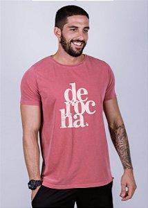 Camiseta Estonada De Rocha Grunge Goiaba
