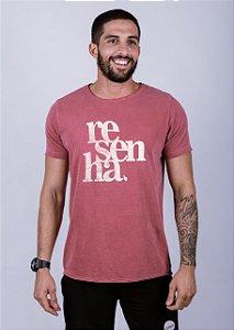 Camiseta Estonada A Fio Resenha Grunge Goiaba