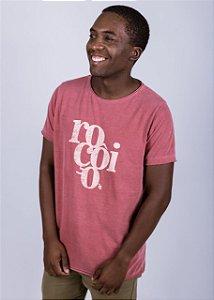 Camiseta Estonada A Fio Roçôio Grunge Goiaba