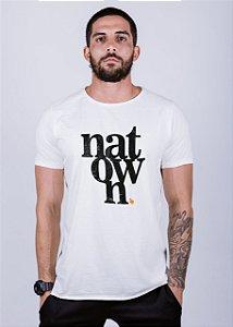 Camiseta Estonada A Fio Natown Grunge Off White