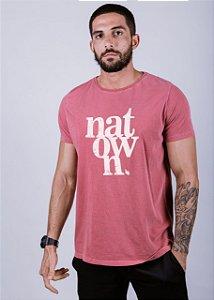 Camiseta Estonada Natown Grunge Goiaba