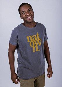 Camiseta Estonada A Fio Natown Grunge Chumbo
