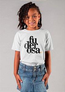 Camiseta infantil Fuderosa Grunge Branca