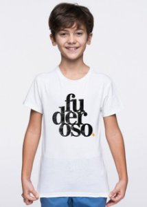 Camiseta Infantil Fuderoso Grunge Branca