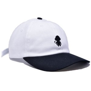 DAD HAT MONKEY LOGO WHITE/BLACK