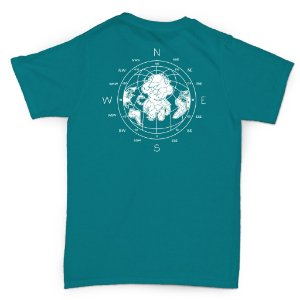 T-SHIRT MAP OCEAN BLUE