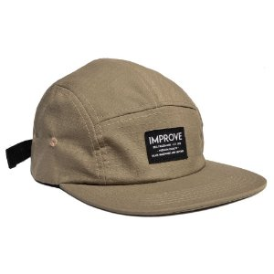 BONÉ 5 PANEL LABEL - BEGE