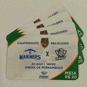 Ingressos - Mariners x Caçadores (Arena de Pernambuco)