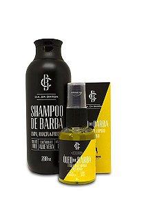 Kit Presente para Barba: Shampoo Barba 200ml + Óleo Barba com Lúpulo de Cerveja Bastards 30ml CIA. DA BARBA