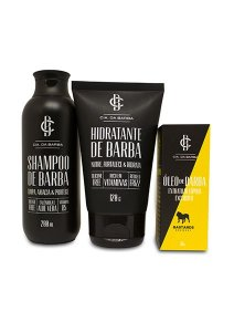 Kit Presente para Barba: Shampoo Barba 200ml + Balm Hidratante Barba 120g + Óleo de Lúpulo Bastards 30ml CIA. DA BARBA
