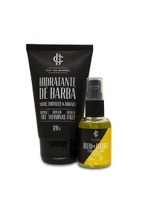 Kit Presente para Barba: Balm Hidratante Barba 120g + Óleo Barba Lúpulo de Cerveja Bastards 30ml CIA. DA BARBA