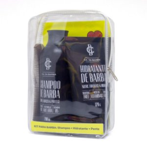 Seleção Barba Hidratada: Shampoo de Barba + Hidratante de Barba + Pente CIA. DA BARBA