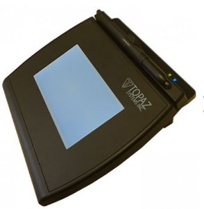 Coletor de Assinatura Topaz Systems T-LBK755SE-BT Modelo Séries Signaturegem LCD 4X3 Bluetooth