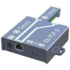 2S-TCP-485-2 Conversor de rede para 1 saída serial RS232 e 1 serial RS485