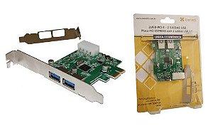 2USB-PCI-E - Placa PCI EXPRESS com 2 saídas USB 3.0
