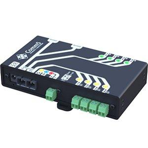MA-50002FX Módulo de Acionamento via rede fibra ótica 100Base-FX com 4 saídas, 4 entradas e 2 Seriais
