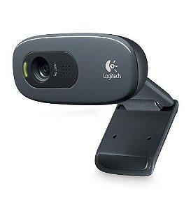 960-000694 Webcam Logitech USB C270 com Vídeo Chamada em HD