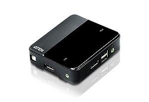 CS782DP Switch USB DisplayPort/Audio KVM de 2 portas (Suporte 4K e cabos incluídos)