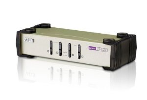 CS84U Comutador KVM de 4 portas PS/2-USB VGA