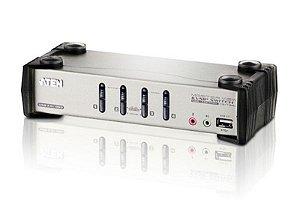 CS1734B Switch PS/2-USB VGA/Audio KVMP™ de 4 portas com OSD