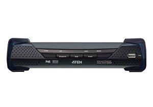 KE6912R 2K DVI-D Dual Link KVM sobre IP Receiver com PoE