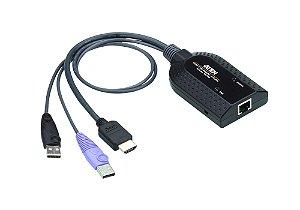 KA7188 Cabo adaptador USB KVM de mídia virtual HDMI (suporte a leitor de cartão inteligente e desmontagem de áudio)