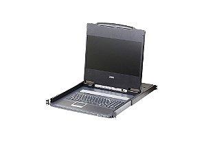 CL6700 Console LCD de trilho único com suporte a periféricos USB (USB / HDMI / DVI / VGA)