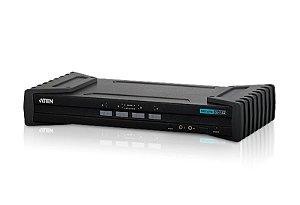 CS1184 Comutador KVM seguro DVI USB de 4 portas (compatível com critérios comuns NIAP)