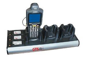 HCH-3033-CHG - Carregador de Bateria GTS 6 Compartimentos (3 Aparelhos + 3 Baterias) Para Symbol MC3000 / MC31XX