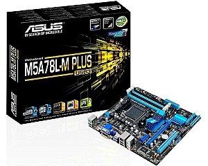 90MB0RB0-M0EAY0 Placa-Mãe Asus (M5A78L-M Plus/USB) AMD AM3+ DDR3 Micro ATX