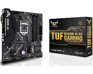 90MB0Y40-C1BAY0 Placa-Mãe Asus GAMING (TUF B360M-PLUS) Intel 1151 DDR4 mATX
