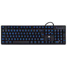30618 Teclado USB Gamer K300 Black com LED Azul Hp