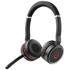 Jabra Headset sem fio Evolve 75 Stereo MS, Link 370 (USB), 7599-832-109