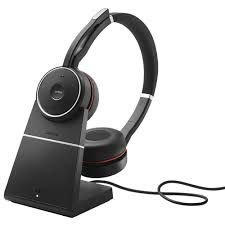 Jabra Headset sem fio Evolve 75 Stereo MS, Link 370 e Base recarregamento (USB), 7599-832-199
