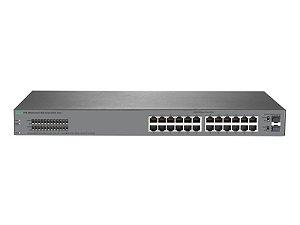 Switch 1820 Gerenciável 24G com 24x 10/100/1000Mbps RJ45 +2x portas 1G SFP - HPE / J9980A