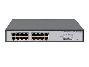 Switch 1420 Não Gerenciável 16G com 16 portas 10/100/1000Mbps RJ45 - HPE / JH016A