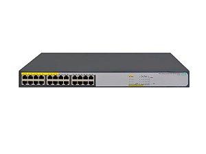 Switch 1420 Não Gerenciável 24G PoE+ com 24 portas 10/100/1000Mbps RJ45 (sendo 12x PoE ) (Potencia PoE: 124W) - HPE / JH019A